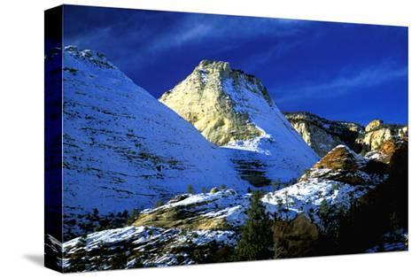 Mountain Snow and Shadows, Zion National Park-Charles Glover-Stretched Canvas Print