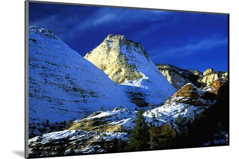 Mountain Snow and Shadows, Zion National Park-Charles Glover-Mounted Art Print