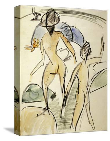 Bather with Hat-Ernst Ludwig Kirchner-Stretched Canvas Print