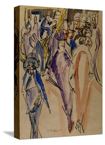 The Elegant Couple-Ernst Ludwig Kirchner-Stretched Canvas Print