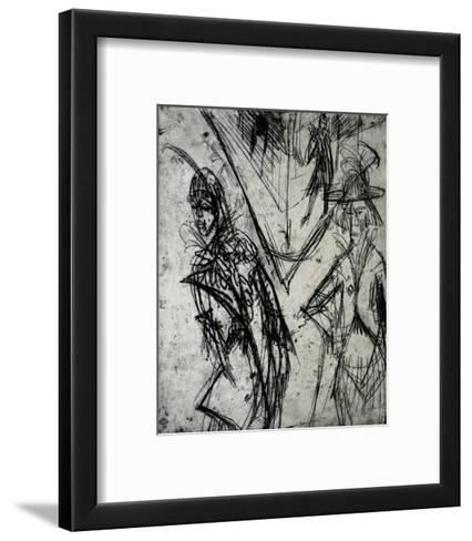 Cocottes at Night-Ernst Ludwig Kirchner-Framed Art Print