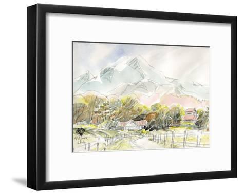 Ranch in Plateau, Scenery of Spring-Kenji Fujimura-Framed Art Print