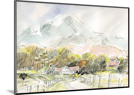 Ranch in Plateau, Scenery of Spring-Kenji Fujimura-Mounted Art Print