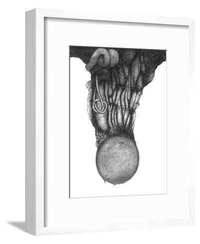 Abstract Tropical Black Tree-Ryuichirou Motomura-Framed Art Print