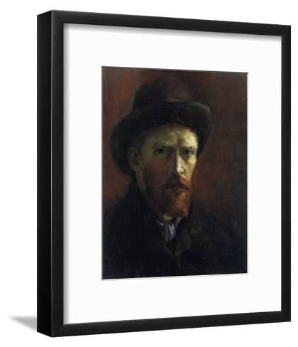 Self-Portrait with Dark Felt Hat-Vincent van Gogh-Framed Art Print