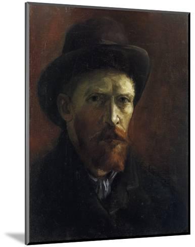 Self-Portrait with Dark Felt Hat-Vincent van Gogh-Mounted Art Print