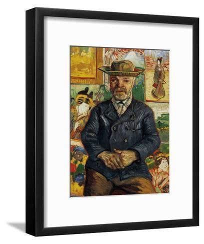 Portrait of Pere Tanguy-Vincent van Gogh-Framed Art Print