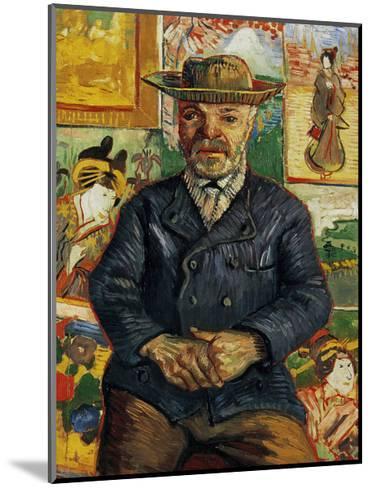 Portrait of Pere Tanguy-Vincent van Gogh-Mounted Art Print