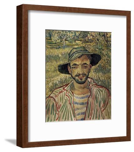 Portrait of a Famer-Vincent van Gogh-Framed Art Print