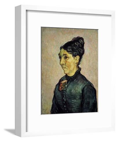 Portrait of Trabuc's Wife-Vincent van Gogh-Framed Art Print