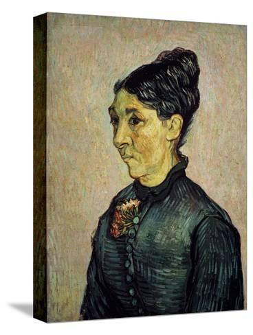 Portrait of Trabuc's Wife-Vincent van Gogh-Stretched Canvas Print