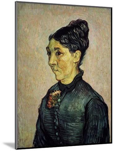 Portrait of Trabuc's Wife-Vincent van Gogh-Mounted Art Print