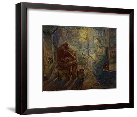 Night-Vincent van Gogh-Framed Art Print
