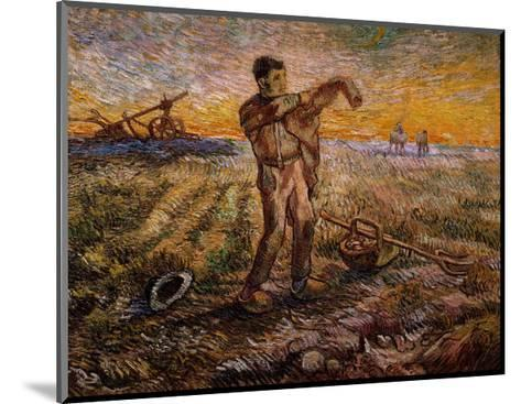 Evening, The End of the Day-Vincent van Gogh-Mounted Giclee Print