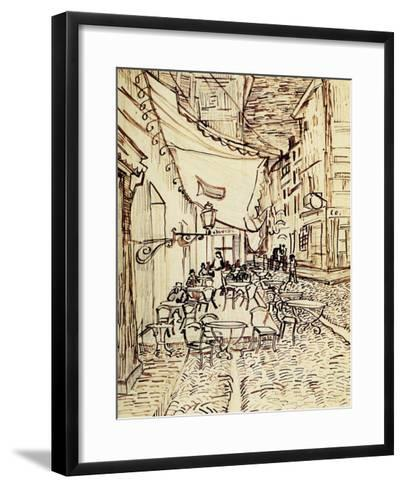 Study for the Cafe Terrace at Night-Vincent van Gogh-Framed Art Print