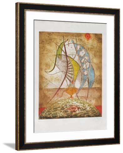 Les danseuses-Ren? Carcan-Framed Art Print