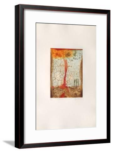 L'homme et le soleil-Ren? Carcan-Framed Art Print