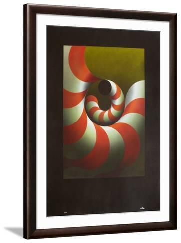 Modulation rouge-Julio Le Parc-Framed Art Print