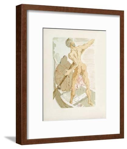 Divine Comedie, Enfer 03: Charon et le passage de l'Acheron-Salvador Dal?-Framed Art Print