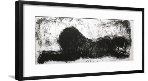 L'enfant dort-Michel Haas-Framed Art Print