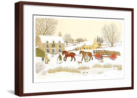 The Royal Oak in winter-Vincent Haddelsey-Framed Art Print