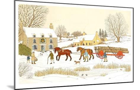 The Royal Oak in winter-Vincent Haddelsey-Mounted Limited Edition