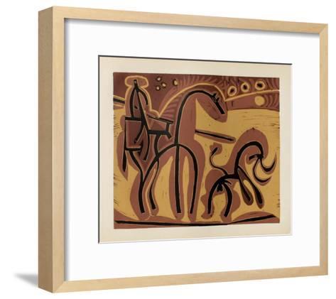 LC - Picador et taureau-Pablo Picasso-Framed Art Print