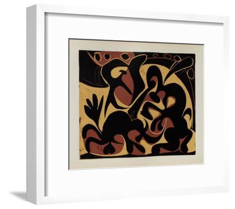 LC - Pique (noir et beige)-Pablo Picasso-Framed Art Print
