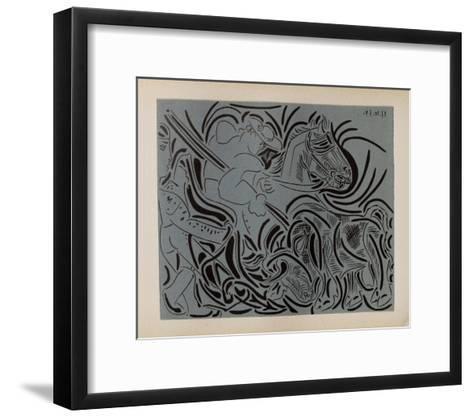 LC - Pique (fond bleu)-Pablo Picasso-Framed Art Print