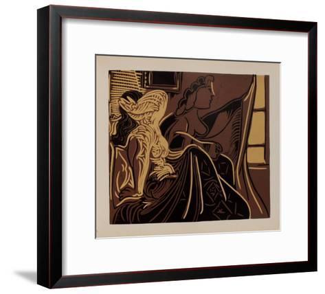 LC - Deux femmes pr?s de la fen?tre-Pablo Picasso-Framed Art Print