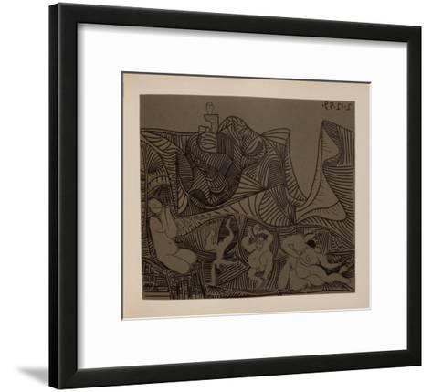 LC - Bacchanale au hibou-Pablo Picasso-Framed Art Print