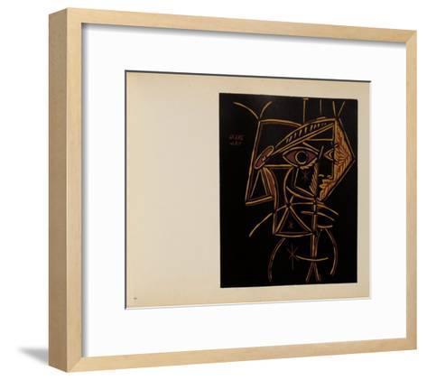 LC - T?te de femme-Pablo Picasso-Framed Art Print