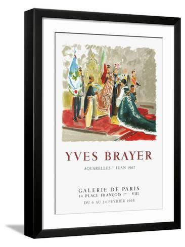Le couronnement d'Iran-Yves Brayer-Framed Art Print