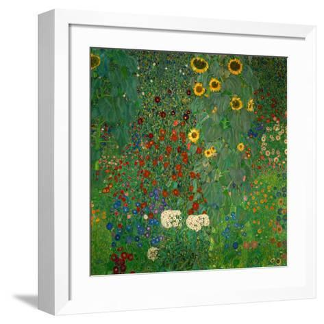 Farm Garden with Sunflowers, c.1912-Gustav Klimt-Framed Art Print