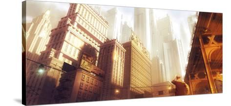 Leaving the Fifties-St?phane Belin-Stretched Canvas Print