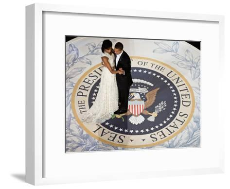 President Obama and the First Lady--Framed Art Print