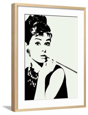 Audrey Hepburn: Cigarillo--Framed Art Print