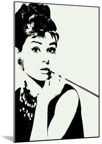 Audrey Hepburn: Cigarillo--Mounted Art Print