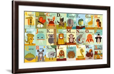 Alphabet Zoo-Jenn Ski-Framed Art Print