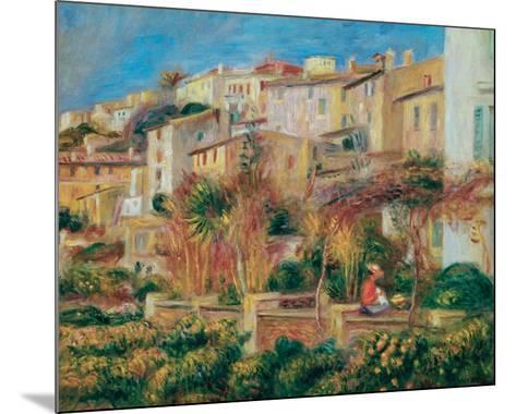 Terrace at Cagnes-Pierre-Auguste Renoir-Mounted Art Print