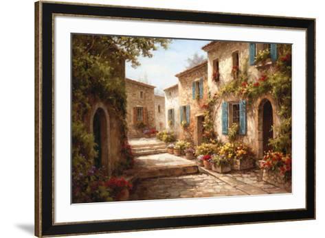 Walkway of Flowers-Steven Harvey-Framed Art Print
