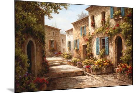 Walkway of Flowers-Steven Harvey-Mounted Art Print