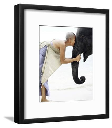 Nose to Nose, Thailand-David Trood-Framed Art Print