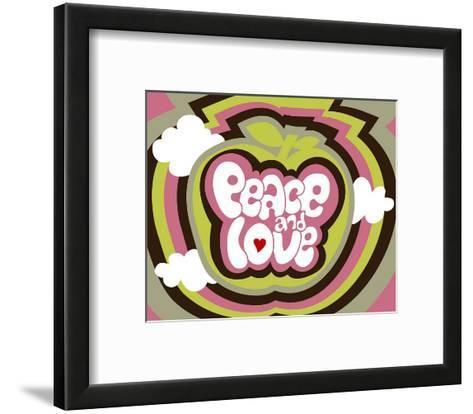 Peace and Love-Béatrice Patrat-canard-Framed Art Print