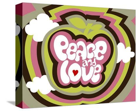 Peace and Love-Béatrice Patrat-canard-Stretched Canvas Print