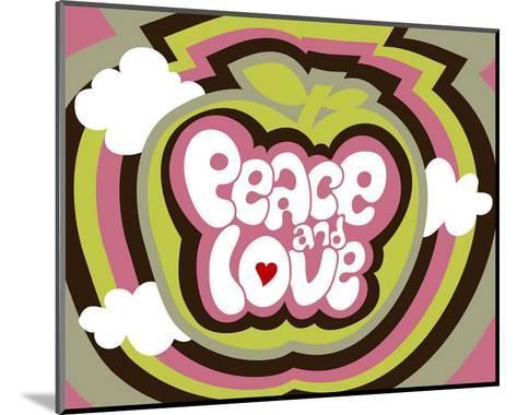 Peace and Love-Béatrice Patrat-canard-Mounted Art Print