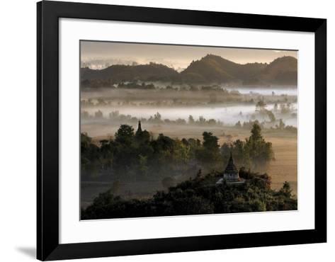 Burma's Oldest Town-Maurice Subervie-Framed Art Print