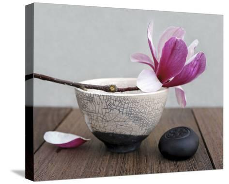 Magnolia and Bowl-Amelie Vuillon-Stretched Canvas Print