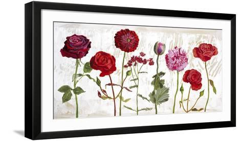 Le Jardin aux Fleurs Rouge-Valerie Roy-Framed Art Print
