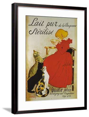 Lait pur sterilize-Th?ophile Alexandre Steinlen-Framed Art Print